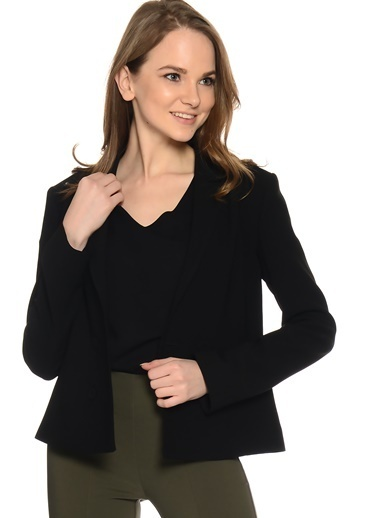 Fabrika Mini Blazer Ceket Siyah